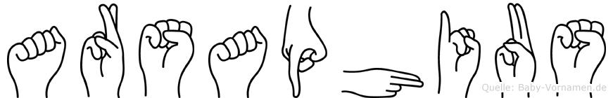 Arsaphius in Fingersprache für Gehörlose
