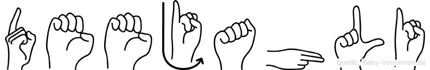 Deejahli in Fingersprache für Gehörlose