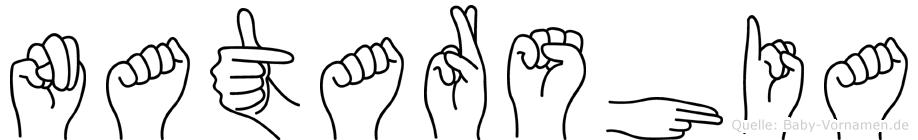 Natarshia im Fingeralphabet der Deutschen Gebärdensprache