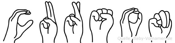 Curson in Fingersprache für Gehörlose