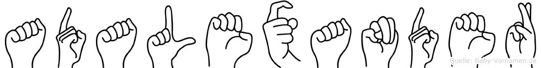 Adalexander in Fingersprache für Gehörlose