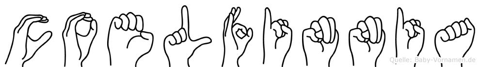 Coelfinnia im Fingeralphabet der Deutschen Gebärdensprache