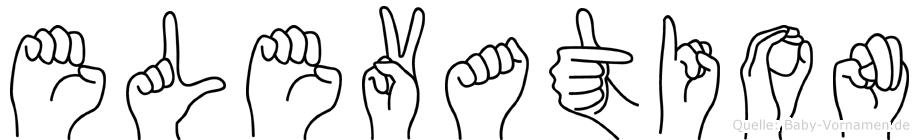 Elevation im Fingeralphabet der Deutschen Gebärdensprache