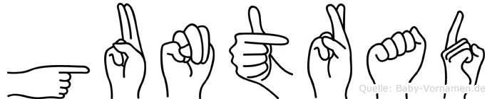 Guntrad in Fingersprache für Gehörlose
