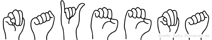Nayeema in Fingersprache für Gehörlose