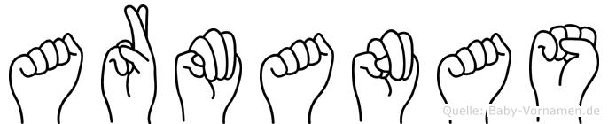 Armanas im Fingeralphabet der Deutschen Gebärdensprache