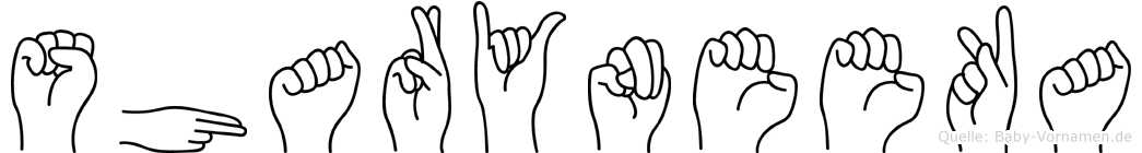 Sharyneeka in Fingersprache für Gehörlose