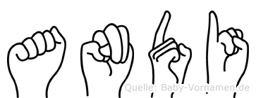Andi in Fingersprache für Gehörlose