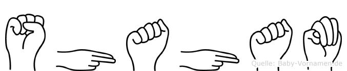 Shaham im Fingeralphabet der Deutschen Gebärdensprache