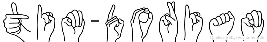 Tim-Dorian im Fingeralphabet der Deutschen Gebärdensprache