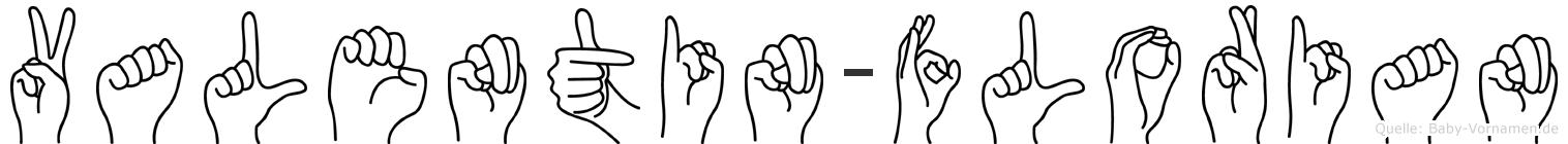 Valentin-Florian im Fingeralphabet der Deutschen Gebärdensprache