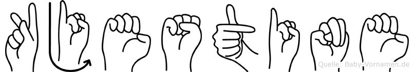 Kjestine im Fingeralphabet der Deutschen Gebärdensprache