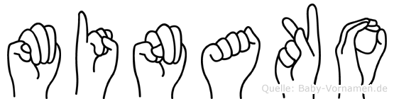 Minako in Fingersprache für Gehörlose