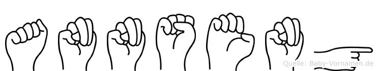 Annseng in Fingersprache für Gehörlose