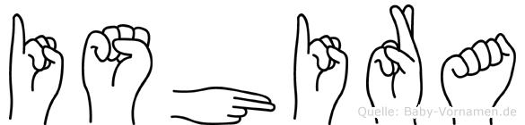 Ishira in Fingersprache für Gehörlose