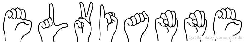 Elvianne in Fingersprache für Gehörlose