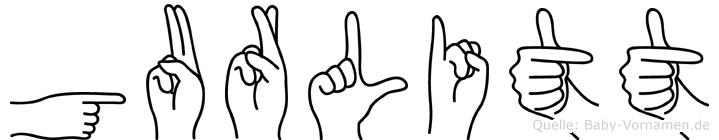Gurlitt im Fingeralphabet der Deutschen Gebärdensprache
