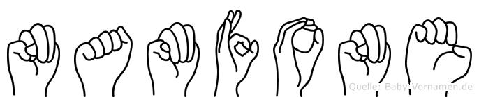 Namfone in Fingersprache für Gehörlose