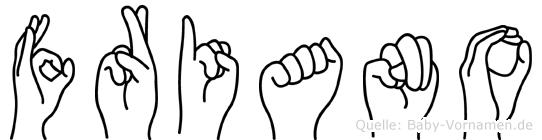Friano in Fingersprache für Gehörlose