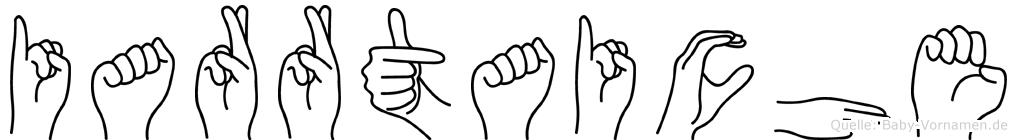 Iarrtaiche im Fingeralphabet der Deutschen Gebärdensprache