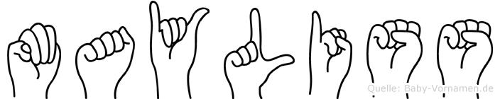 Mayliss im Fingeralphabet der Deutschen Gebärdensprache