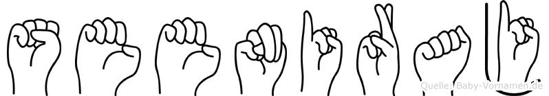 Seeniraj in Fingersprache für Gehörlose