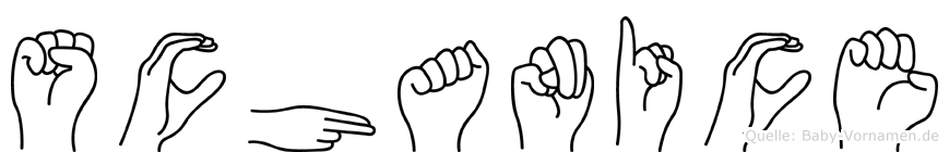 Schanice im Fingeralphabet der Deutschen Gebärdensprache