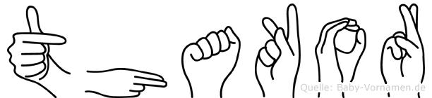 Thakor in Fingersprache für Gehörlose