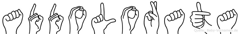 Addolorata in Fingersprache für Gehörlose