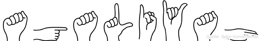 Agaliyah im Fingeralphabet der Deutschen Gebärdensprache