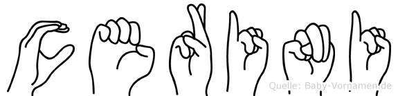 Cerini in Fingersprache für Gehörlose