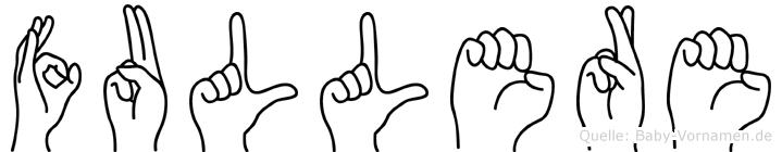 Fullere in Fingersprache für Gehörlose