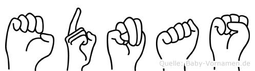 Ednas in Fingersprache für Gehörlose