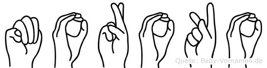Moroko im Fingeralphabet der Deutschen Gebärdensprache