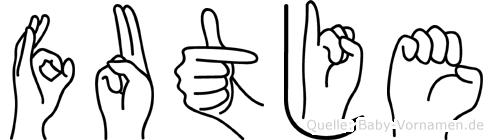 Futje in Fingersprache für Gehörlose
