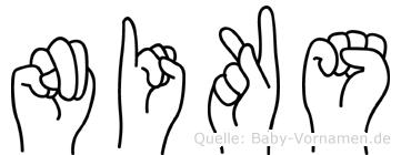 Niks in Fingersprache für Gehörlose