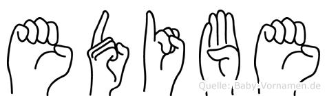 Edibe in Fingersprache für Gehörlose