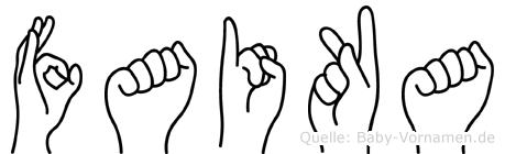 Faika in Fingersprache für Gehörlose