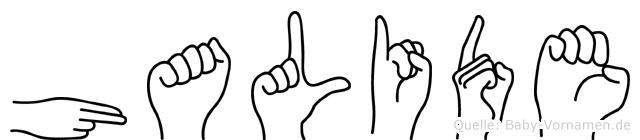 Halide in Fingersprache für Gehörlose