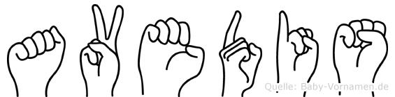 Avedis im Fingeralphabet der Deutschen Gebärdensprache