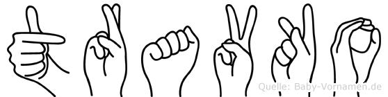 Travko in Fingersprache für Gehörlose