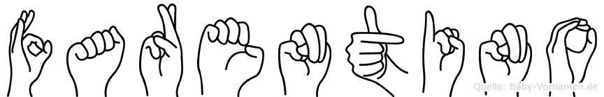 Farentino im Fingeralphabet der Deutschen Gebärdensprache