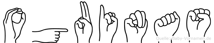 Oguinas im Fingeralphabet der Deutschen Gebärdensprache