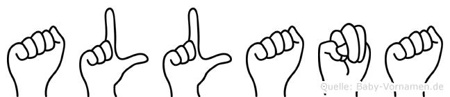 Allana in Fingersprache für Gehörlose