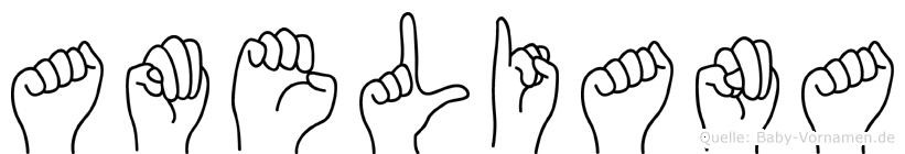 Ameliana in Fingersprache für Gehörlose