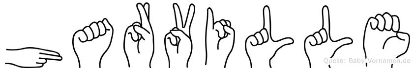 Harville im Fingeralphabet der Deutschen Gebärdensprache