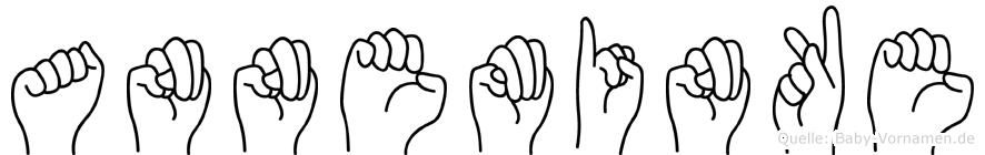 Anneminke im Fingeralphabet der Deutschen Gebärdensprache