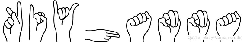 Kiyhanna im Fingeralphabet der Deutschen Gebärdensprache