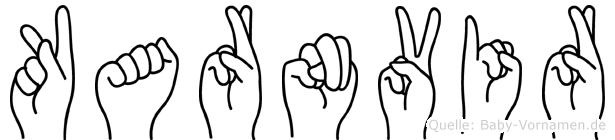 Karnvir in Fingersprache für Gehörlose