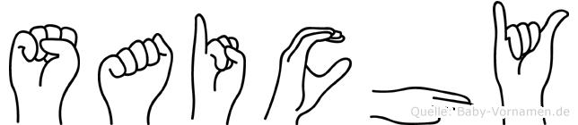 Saichy im Fingeralphabet der Deutschen Gebärdensprache